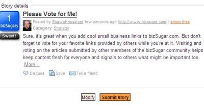 Vote for your favorites on BizSugar